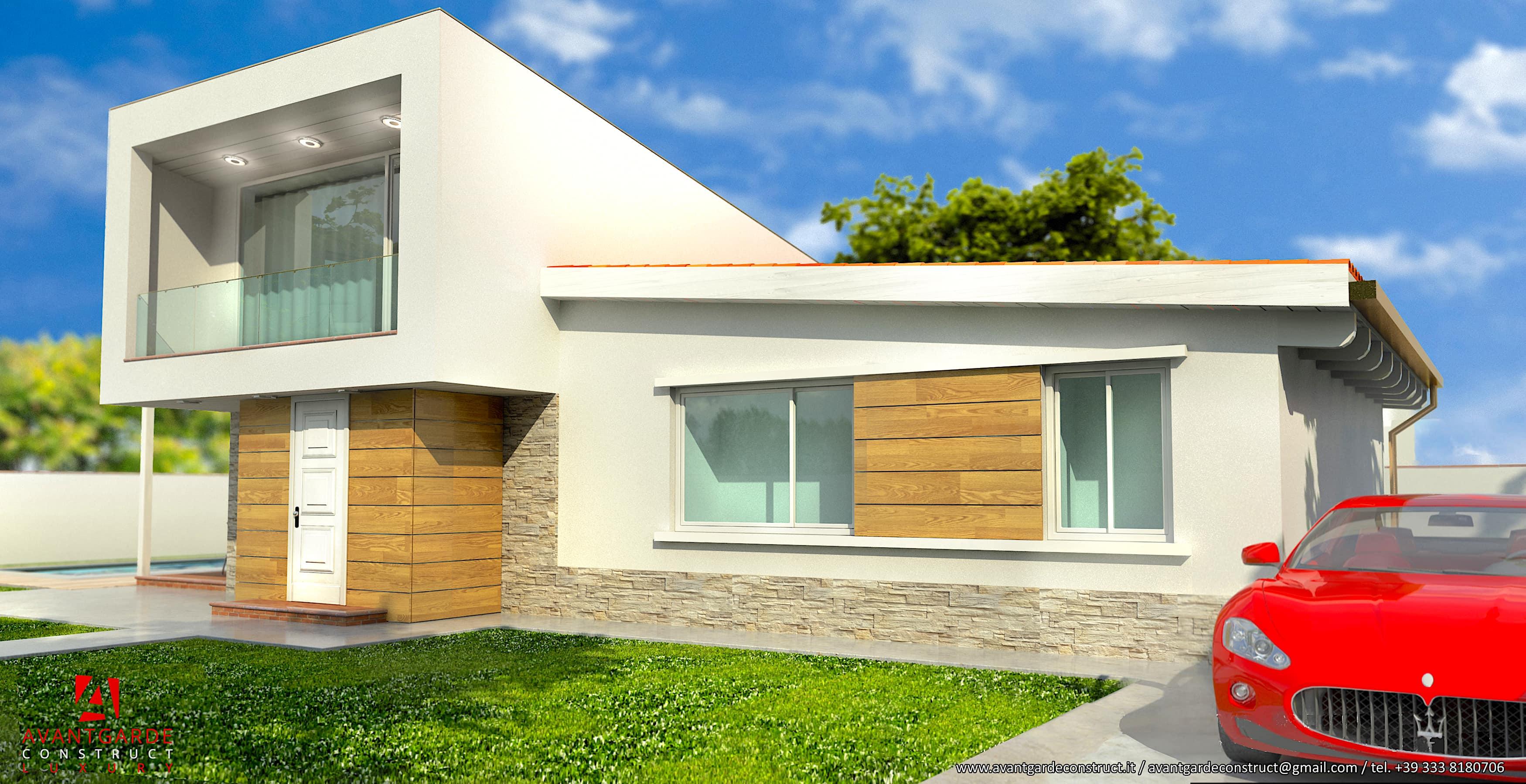 Villa in legno moderna Marche
