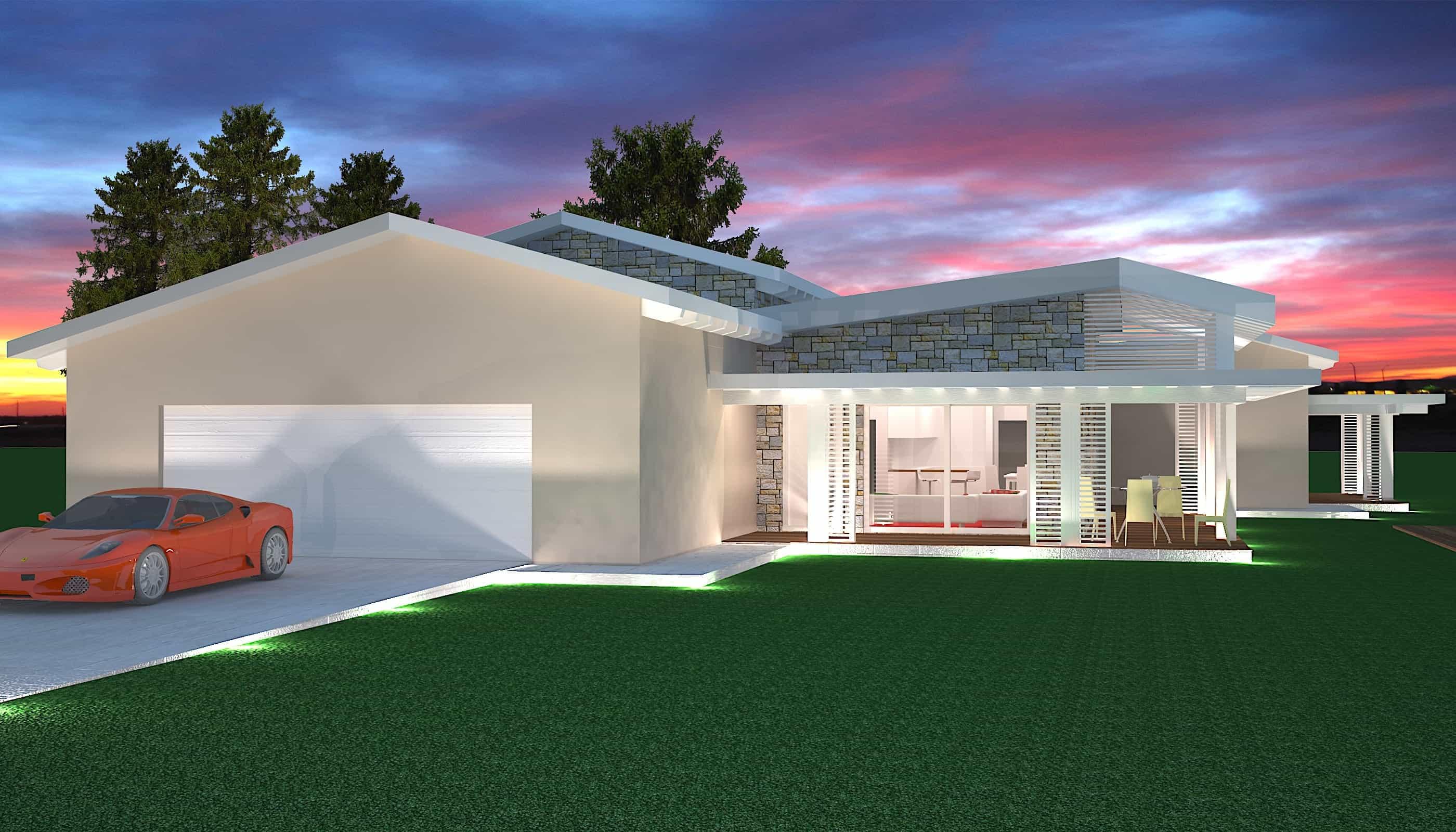 Casa prefabbricata in legno di lusso costi 3000 mq for Case moderne prezzi