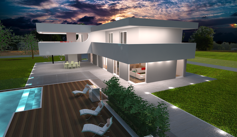 Gallery avantgarde construct luxury for Progetti case 3d