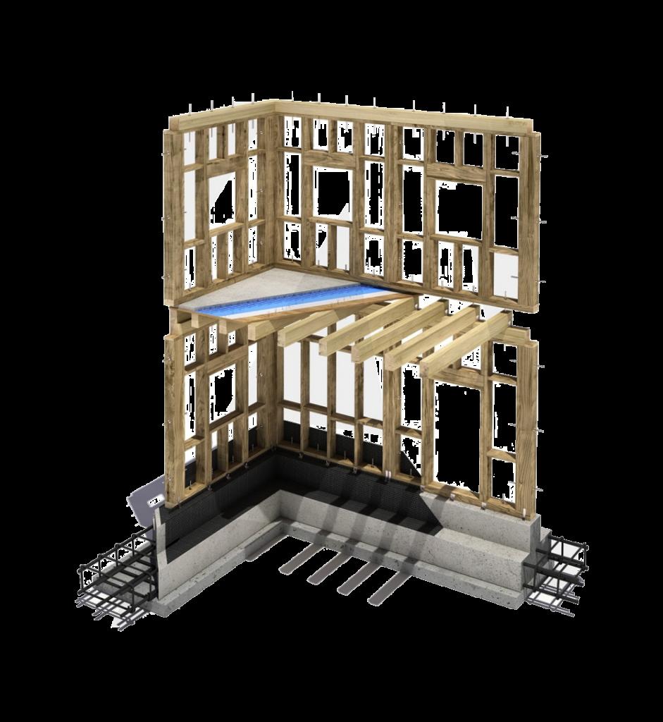 Case in legno ville prefabbricate di lusso chiavi in mano prezzi da euro 1750 mq avantgarde - Parete interna in legno ...