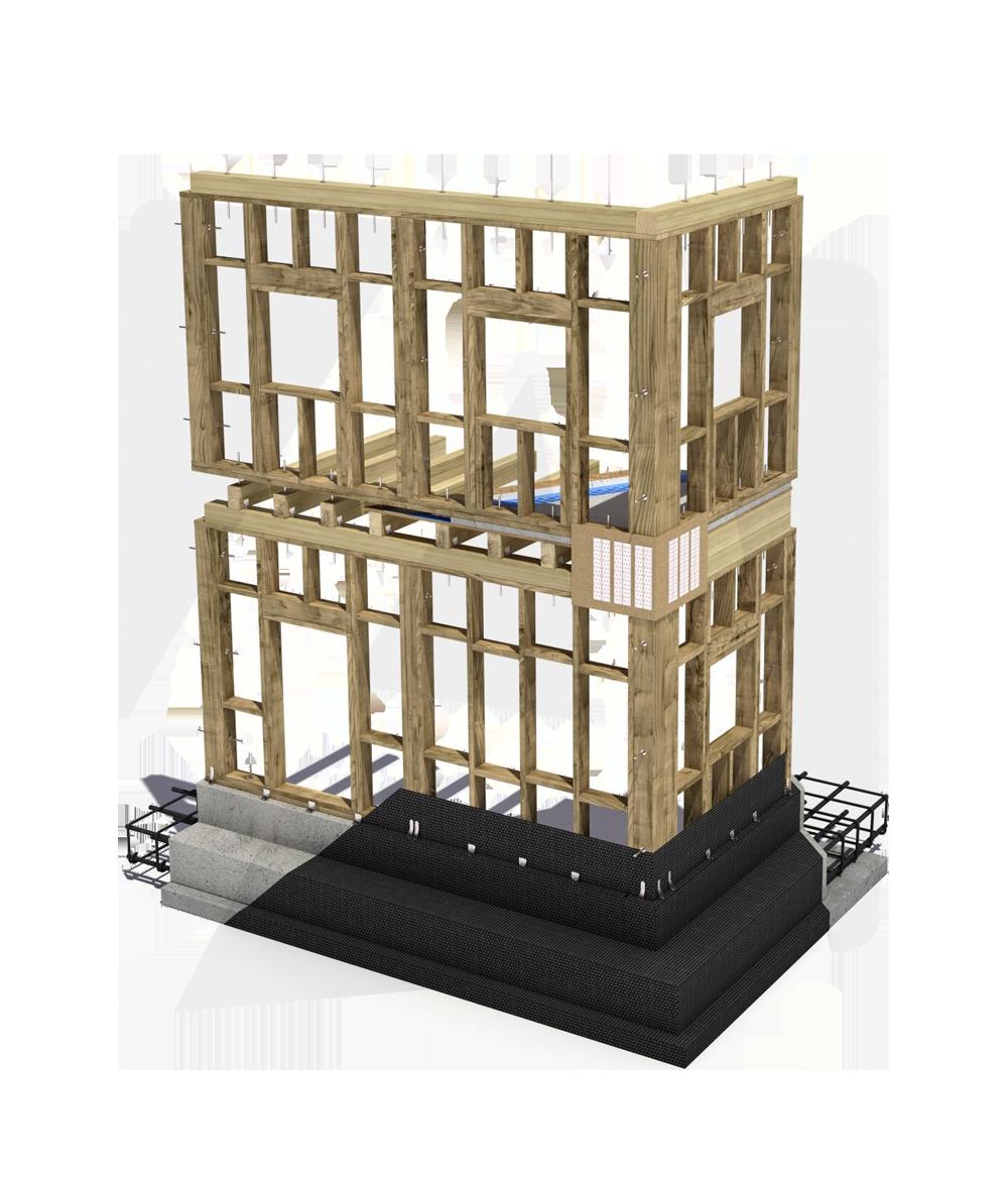 case prefabbricate Platform Frame