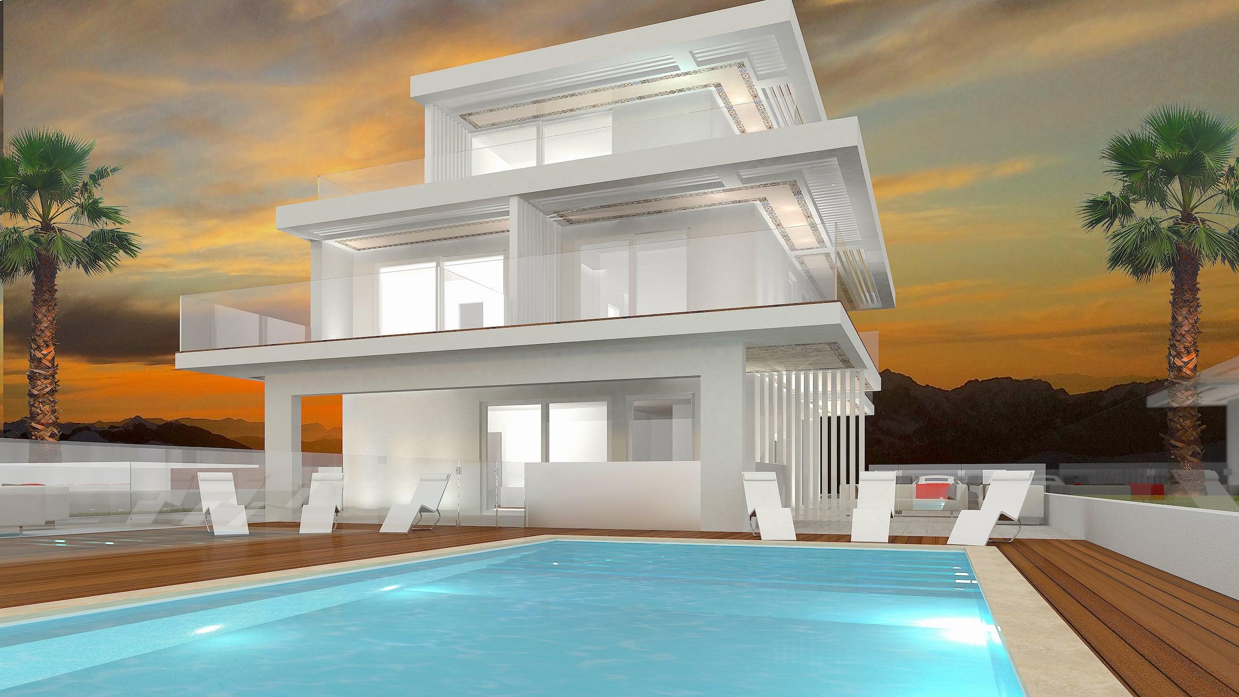 Avantgarde construct luxury case prefabbricate in legno for Costruzioni case moderne