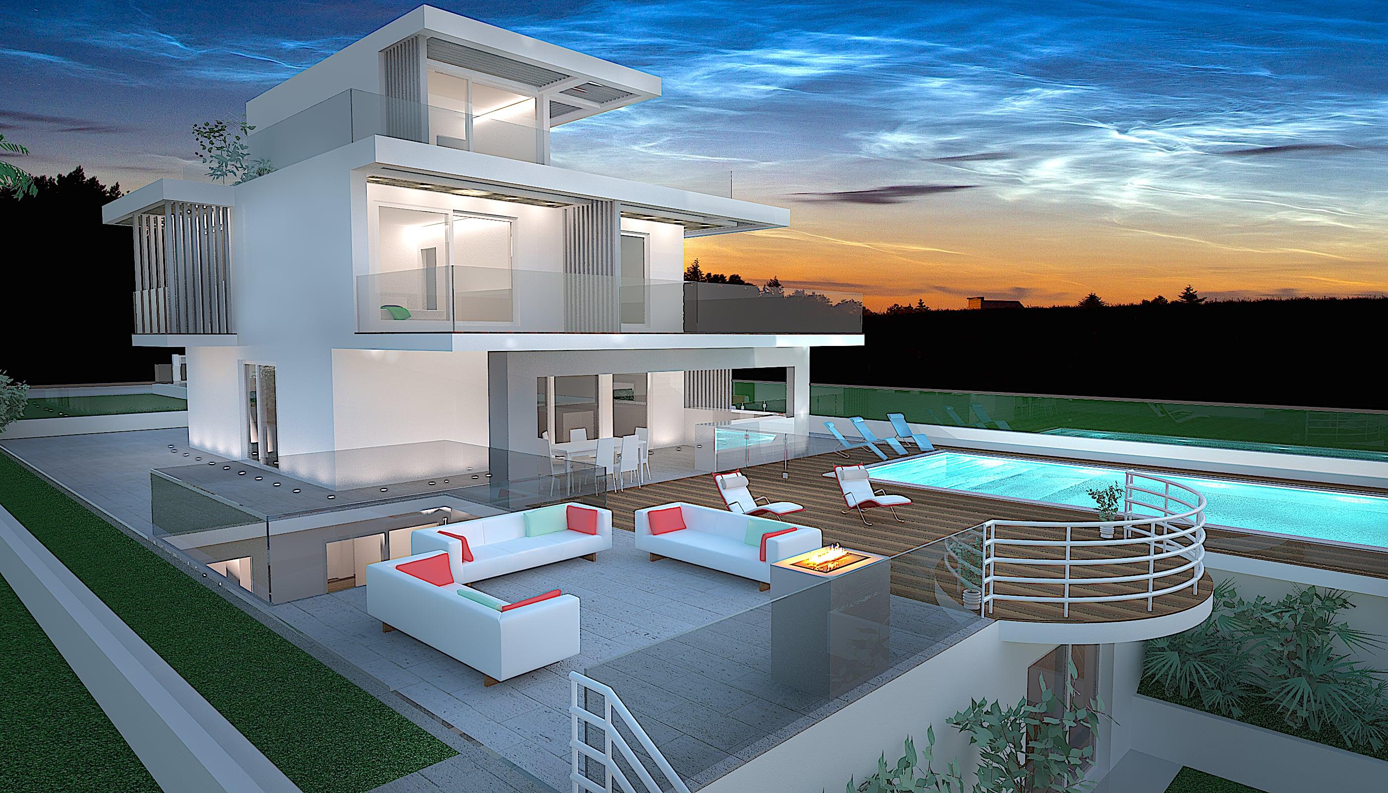 Avantgarde construct luxury case prefabbricate in legno for Architetti d interni famosi