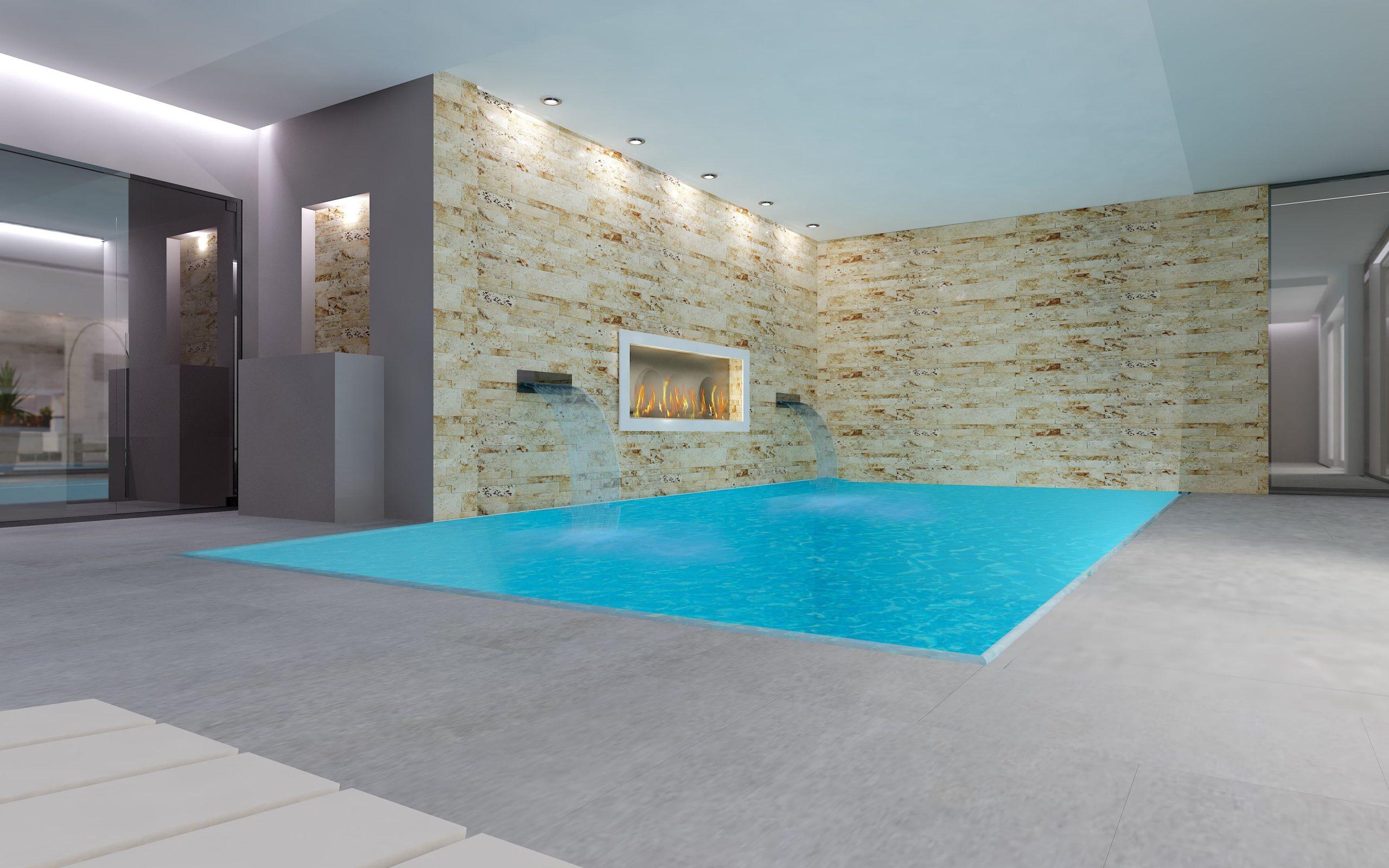 casa prefabbricata di lusso con piscina